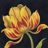 Fleur Rouge Et Jaune Print on Canvas by Constance Lael