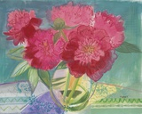 Red Bouquet Print on Canvas by Maret Hensick