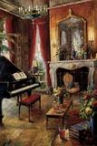 Elegant Salon Print on Canvas by  Foxwell