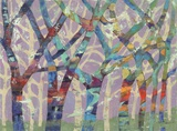 Tree Party II Print on Canvas by M.J. Beswick