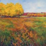 Yellow Trees Print on Canvas by Jan E. Moffatt