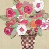 Botanical Summer Print on Canvas by M.J. Beswick