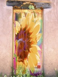 Sunflower Door Print on Canvas by Suzanne Silk