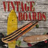 Vintage Skate Boards Print on Canvas by Karen J. Williams