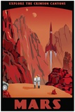 Crimson Canyons Print on Canvas by Steve Thomas