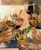 Cheers! Print on Canvas by Karen Honaker