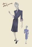 Conservative Suit Dress, 1947 Print on Canvas