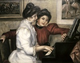 Lerolle Girls at the Piano Print on Canvas by Pierre-Auguste Renoir