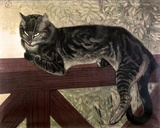 Cat on the Balustrade Print on Canvas by Théophile Alexandre Steinlen