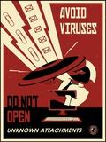 Avoid Viruses Print on Canvas by Steve Thomas