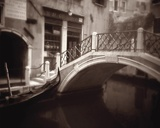 Canal Bridge Print on Canvas by David Westby