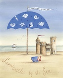 Sandcastles by the Sea Print on Canvas by Katharine Gracey