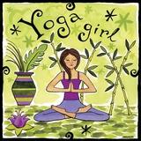 Yoga Girl Print on Canvas by Jennifer Brinley
