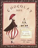 Chocolat, Paris Print on Canvas by Katharine Gracey