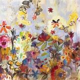 Garden of Honesty Lærredstryk af Joan Elan Davis