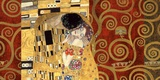 The Kiss (gold montage) Print on Canvas by Gustav Klimt