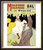"Reproduction of a Poster Advertising ""La Goulue"" at the Moulin Rouge, Paris Poster by Henri de Toulouse-Lautrec"
