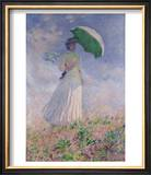 Woman with a Parasol Turned to the Right, 1886 Posters by Claude Monet