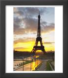 Eiffel Tower at Dawn, Place Trocadero Square, Paris, France Posters by Per Karlsson