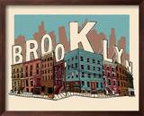 Brooklyn Affiches par  Hero Design