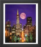 Moon Over Transamerica Building, San Francisco, CA Art by Terry Why