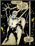 Marvel Comics Retro: Silver Surfer Comic Panel (aged) Mounted Print