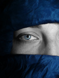Blue Tuareg Eye Photographie par  Exploding Art