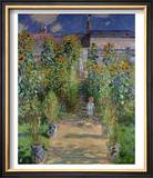 The Artist&#39;s Garden at Vetheuil, 1880 Posters by Claude Monet