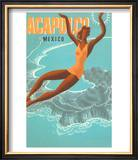 Acapulco, Mexico: Woman and Water Posters