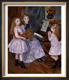 The Daughters of Catulle Mendes at the Piano, 1888 Prints by Pierre-Auguste Renoir