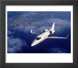 Lear Jet in Flight Prints by Garry Adams