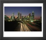 Night Skyline, Atlanta, Georgia Prints by Kevin Leigh