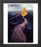 Kilauea Volcano Erupting Prints by Jim Sugar