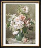 Still Life of Peonies and Roses Prints by Francois Rivoire