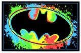Batman Logo Blacklight Pôsters