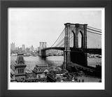 Brooklyn Bridge Over East River and Surrounding Area Poster