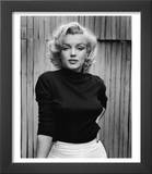 Portrait of Actress Marilyn Monroe on Patio of Her Home Posters by Alfred Eisenstaedt