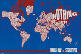 World Map of Stereotypes Plakater
