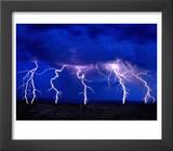 Lightning Storm over Prairie Art by Aaron Horowitz