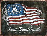 Don't Tread On Me - American Flag Tin Sign
