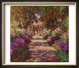 Path in Monet's Garden, Giverny Posters by Claude Monet