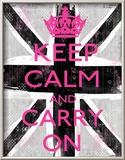 Bleib' ruhig und mach' weiter Kunstdrucke von Louise Carey