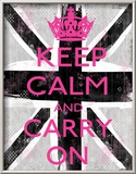 Keep Calm And Carry On Poster by Louise Carey