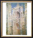 Rouen Cathedral, West Facade, Sunlight, 1894 Prints by Claude Monet