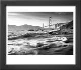 California, San Francisco, Golden Gate Bridge from Marshall Beach, USA Prints by Alan Copson