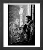 Boxer Muhammad Ali Taunting Rival Joe Frazier at Frazier&#39;s Training Headquarters Art by John Shearer