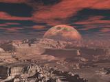 Calardus Desert Mars 2120 Photographic Print by  Exploding Art