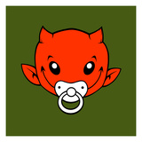 Little Devil Print by Volker Dornemann