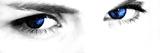 Kobalt Eyes Fotografisk trykk av  Exploding Art