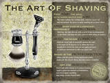 The Art of Shaving Plaque en métal
